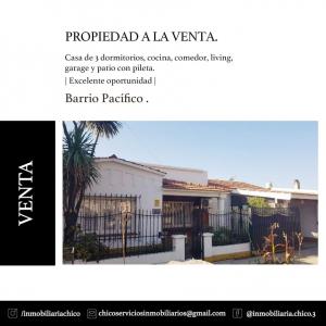 Propiedad CASA BARRIO PACIFICO